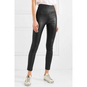 NEW SPRWMN High Waist Leather Leggings in Black S
